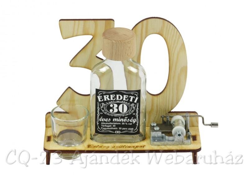 születésnapi ajándék 30 születésnapra 30. Születésnapra pálinkás zenélő szett 0,1l   ajándék ötletek születésnapi ajándék 30 születésnapra