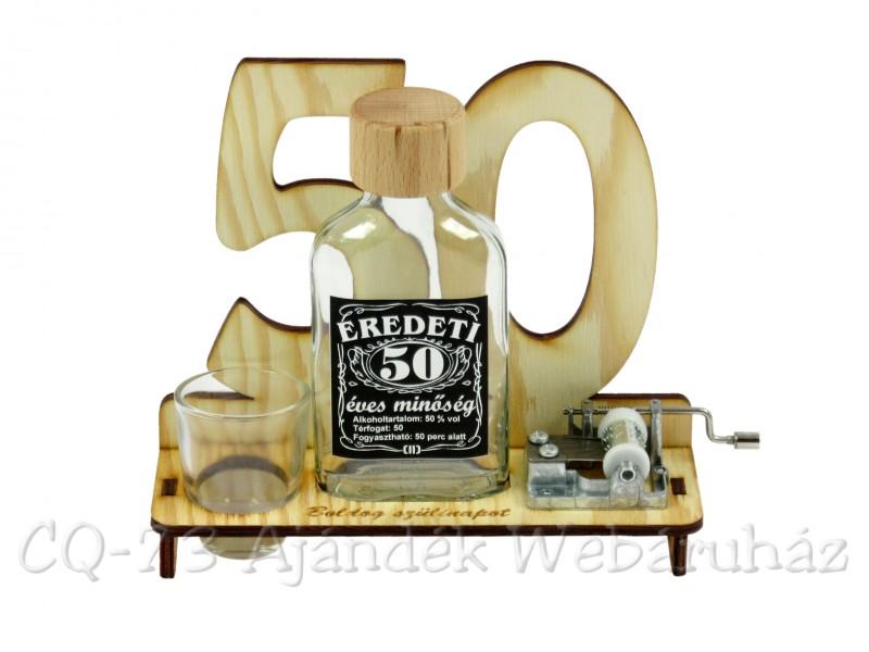 születésnapi ötletek 50 születésnapra 50. Születésnapra pálinkás zenélő szett 0,1l   ajándék ötletek születésnapi ötletek 50 születésnapra