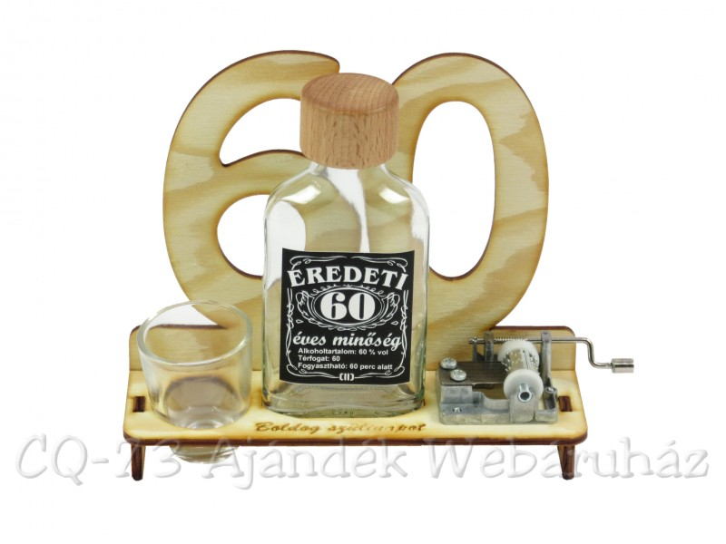 60 születésnapi képek 60. Születésnapra pálinkás zenélő szett 0,1l   ajándék ötletek 60 születésnapi képek