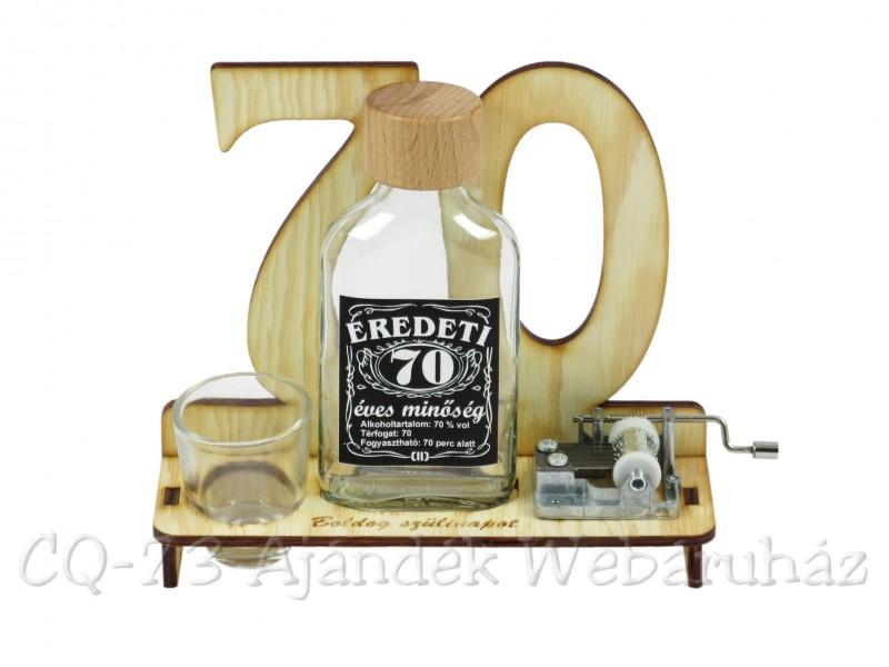 születésnapi köszöntő 70 éveseknek 70. Születésnapra pálinkás zenélő szett 0,1l   ajándék ötletek születésnapi köszöntő 70 éveseknek