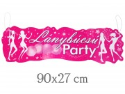 Banner Lánybúcsú party 90x27cm MB34418