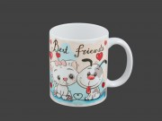 Bögre Best friends kutya/cica 3dl BD2087