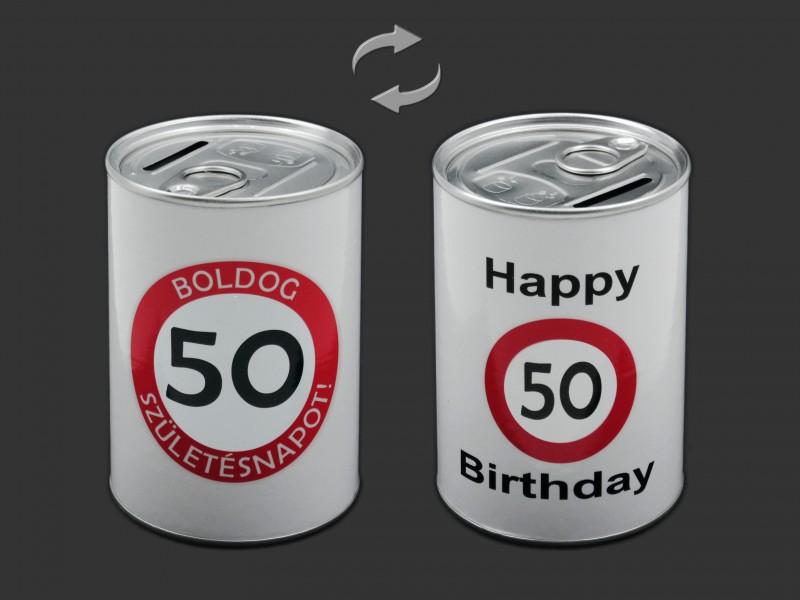 a48f388ed9 CQ6861 Persely konzerv Boldog 50. Születésnapot 7,5x11cm
