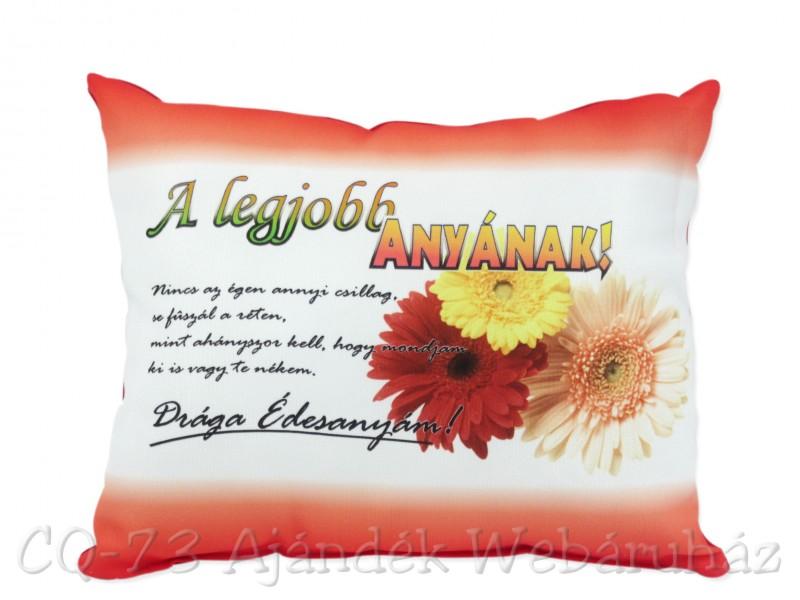 anyának születésnapi ajándék Díszpárna A legjobb anyának! VN1048   ajándék ötletek anyának születésnapi ajándék