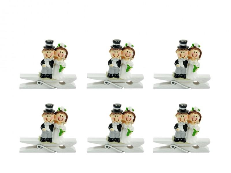 141ee484dc Esküvői pár facsipeszen 6db 4,5cm 4457. Esküvői pár facsipeszen 6db 4,5cm  4457