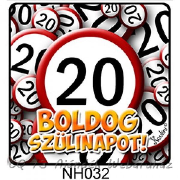 boldog 20 születésnapot Hűtőmágnes 032 Boldog Szülinapot 20 karikás   ajándék ötletek boldog 20 születésnapot