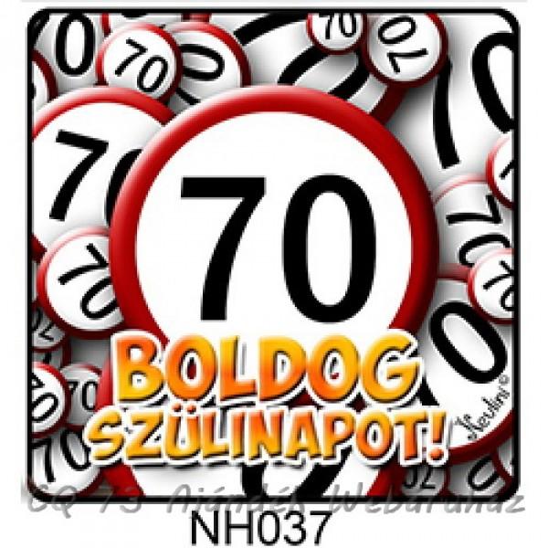 boldog 70 születésnapot Hűtőmágnes 037 Boldog Szülinapot 70 karikás   ajándék ötletek boldog 70 születésnapot