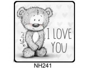 Hűtőmágnes NH241 I love you Nevlini 7,5cm