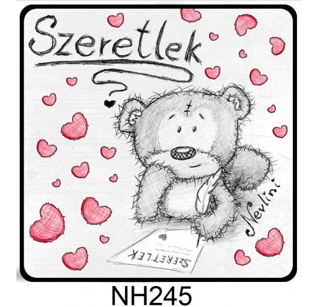39d801e8cb Hűtőmágnes NH245 Szeretlek maci sok szív 7,5cm. Hűtőmágnes NH245 Szeretlek  maci sok szív 7,5cm