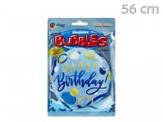 Lufi Happy Birthday Bubbles kék 56cm Q87748