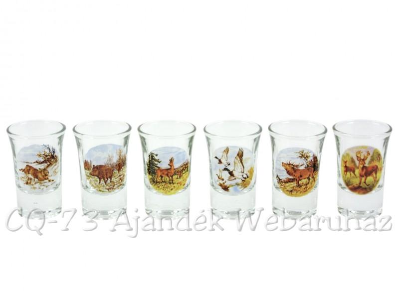 0fc98d5847 Pálinkás pohár szett 3,4cl 6db Vadállatok - ajándék ötletek