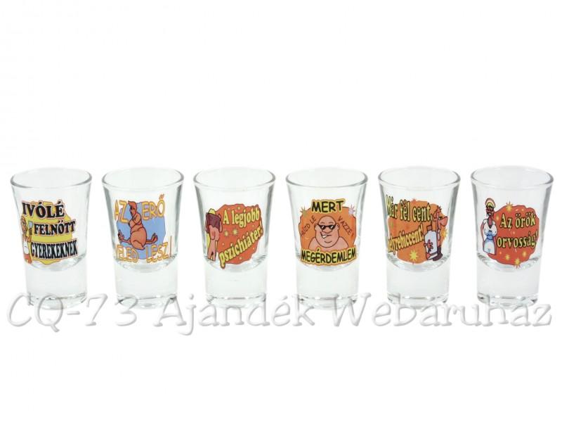 3c82296155 Pálinkás pohár szett 3,4cl 6db Vicces - ajándék ötletek