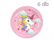 Party tányér unicornis 6db 23cm 601428