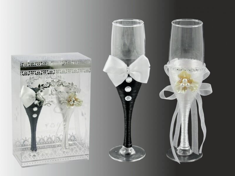30279824fe Pezsgőspohár szett esküvőre 24cm - ajándék ötletek