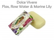 Szappan Dolce Vivere Flax, Rose Water and Marine Lily 250g