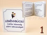 vicces idézetek leánybúcsúra Tréfás idézetek Viccfüzet a házasságról   ajándék ötletek