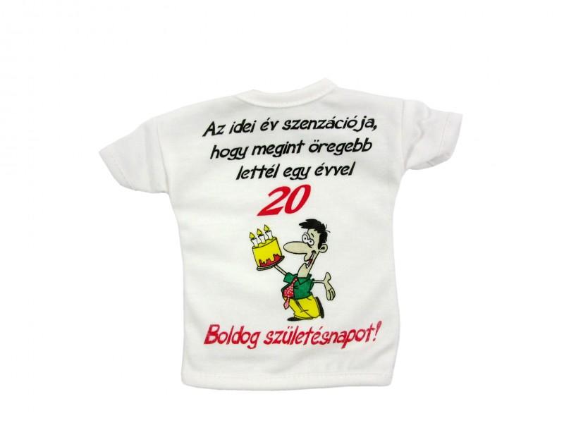 boldog 20 születésnapot Üvegpóló Az idei év szenzációja 20 Boldog Születésnapot!   ajándék  boldog 20 születésnapot
