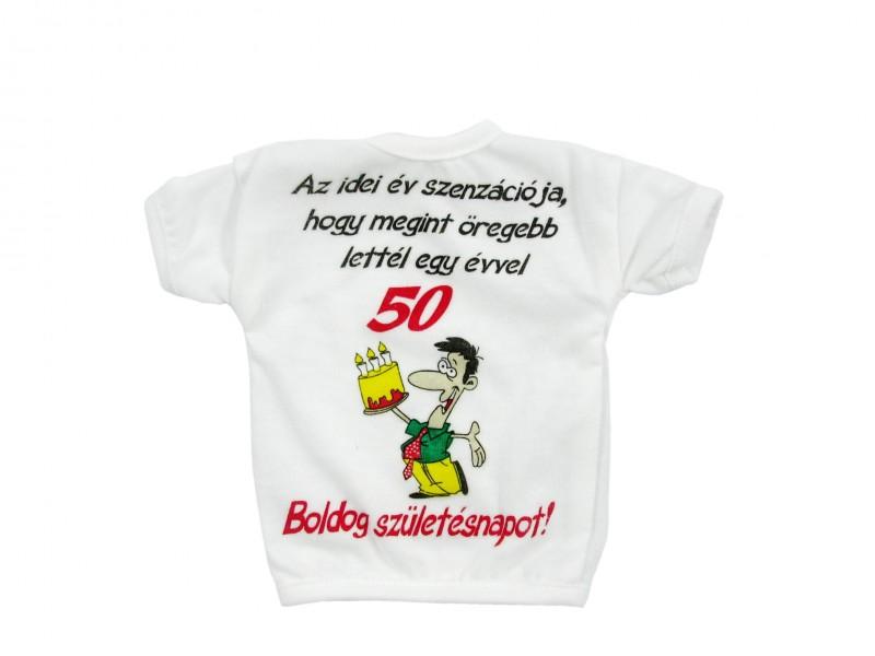 50 éves vicces születésnapi köszöntő Üvegpóló Az idei év szenzációja 50 Boldog Születésnapot!   ajándék  50 éves vicces születésnapi köszöntő