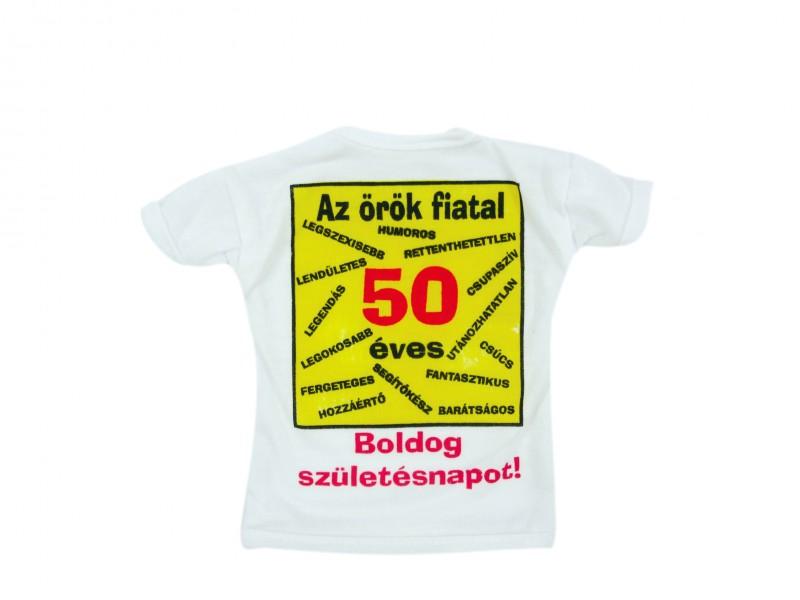 50 éves szülinapi ajándék Üvegpóló Az örök fiatal 50 éves Boldog Születésnapot   ajándék ötletek 50 éves szülinapi ajándék