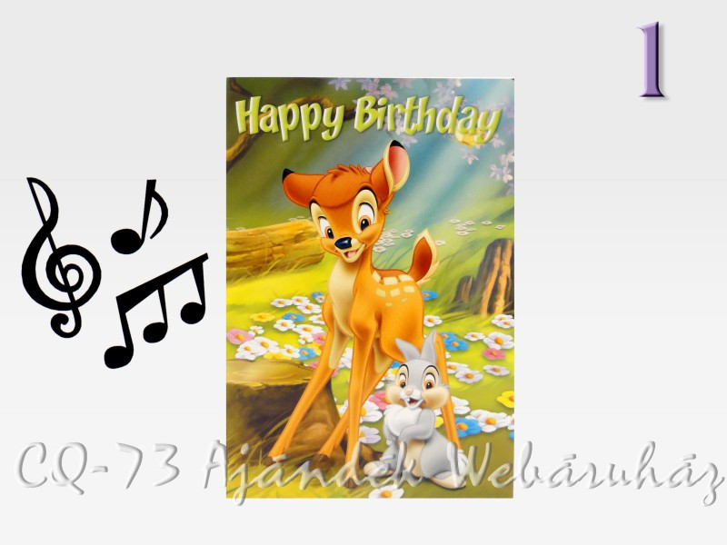 zenés szülinapi képeslap Zenélő képeslap + boríték Születésnapi Disney   ajándék ötletek zenés szülinapi képeslap